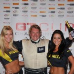 Jeff Wyatt celebrating his win at the 2013 GT Cup Championship